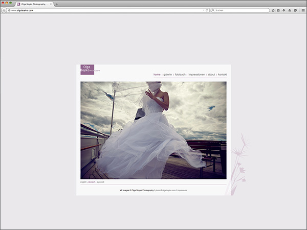 Webseite - Olga Boyko Photography