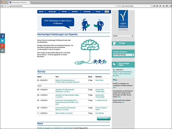 Webseite - Open Source School
